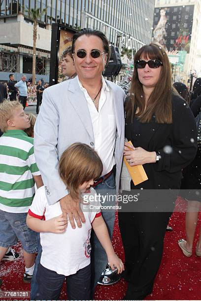 Andy Garcia Andres Garcia and Marivi Lorido Garcia at the Premiere of Warner Bros FRED CLAUS at Grauman's Chinese Theatre on November 3 2007 in Los...