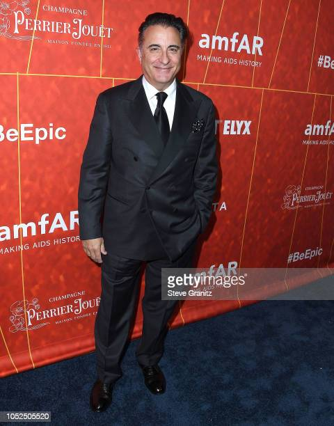 Andy Garcia arrives at the amfAR Gala Los Angeles 2018 at Wallis Annenberg Center for the Performing Arts on October 18 2018 in Beverly Hills...