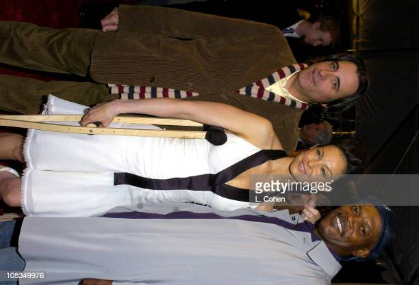 Andy Garcia Ashley Judd and Samuel L Jackson during Twisted World Premiere Red Carpet at Paramount Pictures in Los Angeles California United States