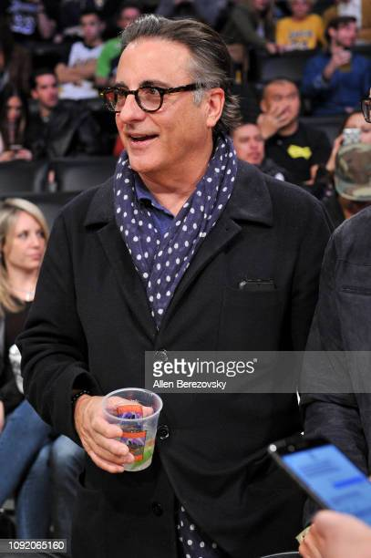 Andy Garcia attends a basketball game between the Los Angeles Lakers and the Detroit Pistons at Staples Center on January 09 2019 in Los Angeles...