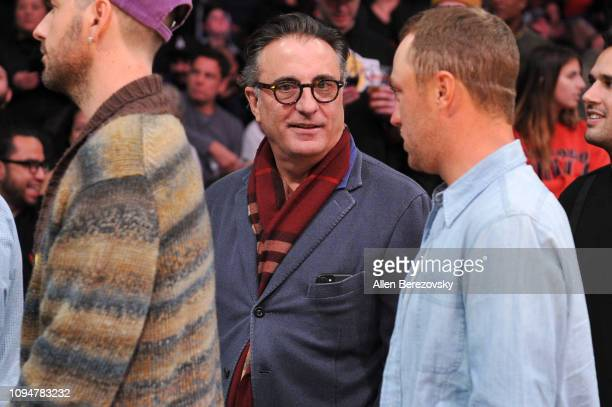 Andy Garcia attends a basketball game between the Los Angeles Lakers and the Chicago Bulls at Staples Center on January 15 2019 in Los Angeles...