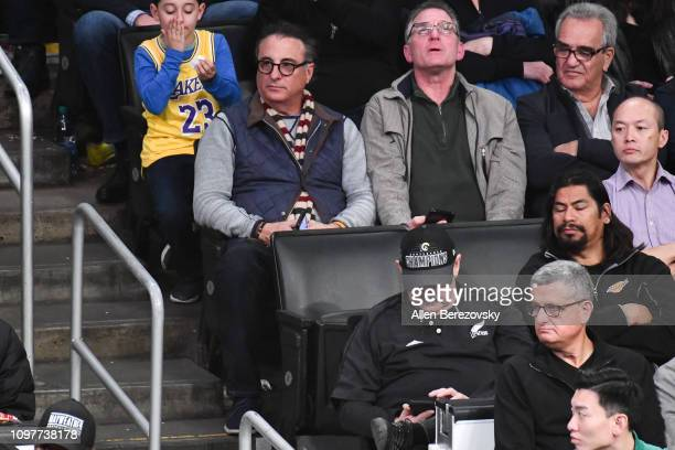 Andy Garcia attends a basketball game between the Los Angeles Lakers and the Golden State Warriors at Staples Center on January 21 2019 in Los...