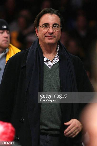Andy Garcia attends the Los Angeles Lakers vs Boston Celtics game at the Staples Center on December 30 2007 in Los Angeles California