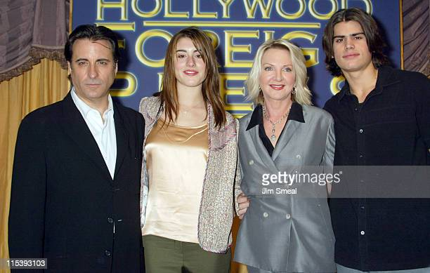 Andy Garcia daughter Dominik GarciaLorido Dagmar Dunlevy president of Hollywood Foreign Press Association and AJ Lamas