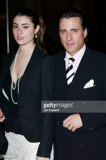 Andy Garcia daughter during Hollywood Awards Gala Ceremony Red Carpet Arrivals at The Beverly Hilton in Beverly Hills California United States