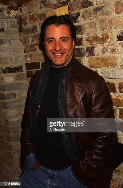Andy Garcia during 2003 Park CityParadigm Sundance Party at Grappa in Park City Utah United States