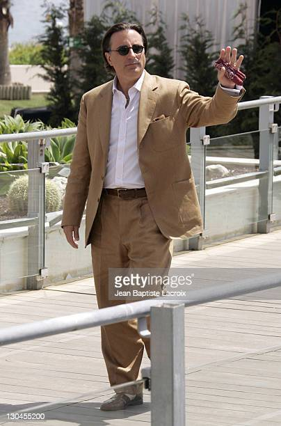 Andy Garcia during 2007 Cannes Film Festival 'Ocean's Thirteen' Photocall Departures at Palais des Festivals in Cannes France