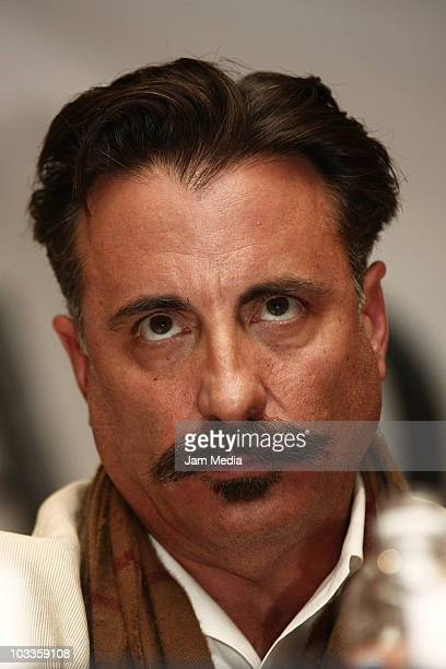 Andy Garcia during a press conference to present the movie 'Cristiada' at Camino Real Hotel on August 11 2010 in Mexico City Mexico