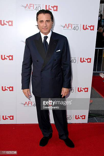 Andy Garcia during Al Pacino Honored with 35th Annual AFI Life Achievement Award Arrivals at Kodak Theater in Hollywood California United States