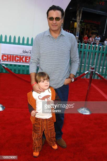 Andy Garcia during Disney's 'Chicken Little' Los Angeles Premiere Arrivals at El Capitan in Hollywood California United States