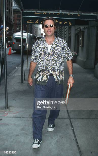 Andy Garcia during Filming On Location of 'Piece of Cake' in New York City in New York City New York United States