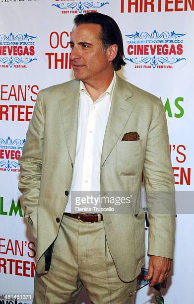 Andy Garcia during The CineVegas Film Festival Opening Night Screening of Ocean's Thirteen Red Carpet at The Palms Hotel and Casino A Maloof Resort...