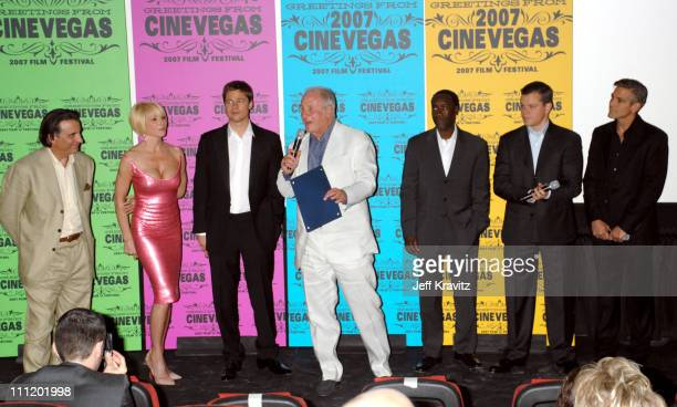 Andy Garcia, Ellen Barkin, Brad Pitt, Jerry Weintraub, Don Cheadle, Matt Damon and George Clooney