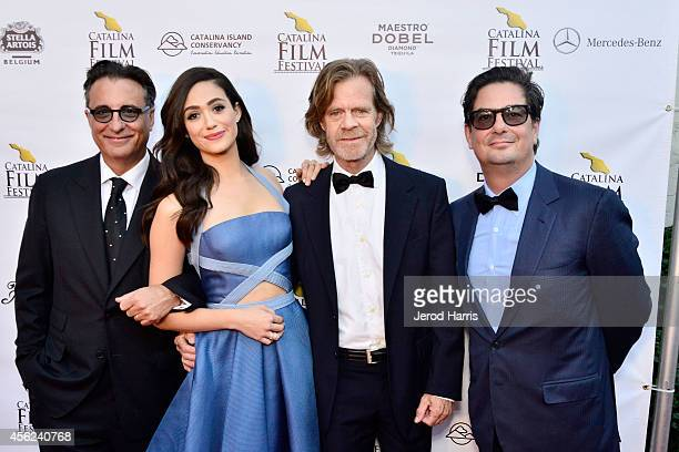 Andy Garcia Emmy Rossum William H Macy and Roman Coppola arrive at the 2014 Catalina Film Festival Premiere of 'Rudderless' on September 27 2014 in...