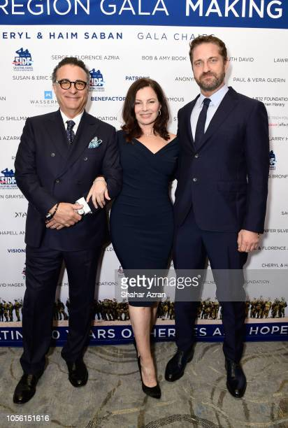 Andy Garcia Fran Drescher and Gerard Butler attend Friends of The Israel Defense Forces Western Region Gala at The Beverly Hilton Hotel on November 1...
