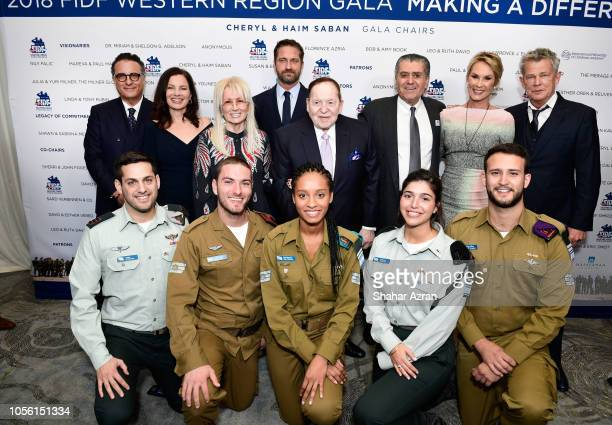 Andy Garcia Fran Drescher Dr Miriam Adelson Gerard Butler Sheldon Adelson Haim Saban Cheryl Saban David Foster and IDF soldiers attend Friends of The...