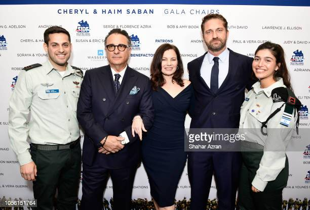 Andy Garcia Fran Drescher Gerard Butler and IDF soldiers attend Friends of The Israel Defense Forces Western Region Gala at The Beverly Hilton Hotel...