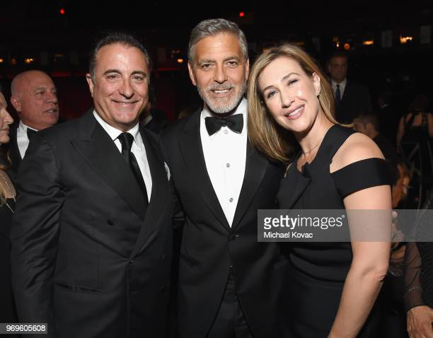 Andy Garcia George Clooney and President of Paramount Television Amy Powell attend the American Film Institute's 46th Life Achievement Award Gala...