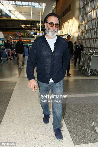 Andy Garcia is seen at LAX on January 13 2016 in Los Angeles California