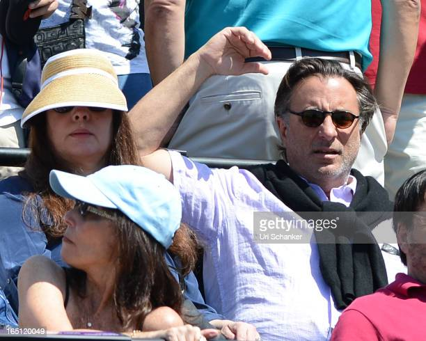Andy Garcia is sighted at the Sony Tennis Open 2013 at Crandon Park Tennis Center on March 30 2013 in Key Biscayne Florida