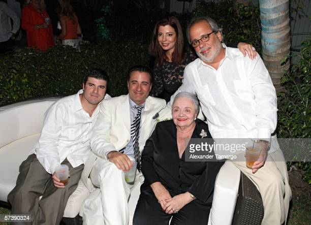 Andy Garcia poses with his mother and siblings at the Sagamore Hotel for the kick off party for the Ocean Drive Espanol 2nd Annual Experiencia golf...