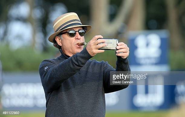 Andy Garcia the Hollywood actor on the 12th tee during the third round of the 2015 Alfred Dunhill Links Championship at Kingsbarns on October 3 2015...