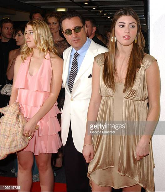Andy Garcia with daughters Domenic and Daniella during 2004 Cannes Film Festival 'Modigliani' Premiere at Palais Du Festival in Cannes France