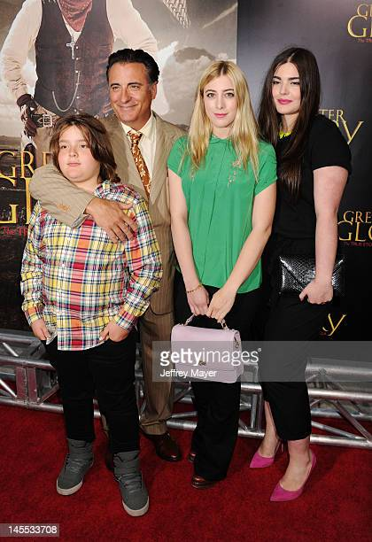 Andy Garcia with his son Andres Garcia-Lorido and daughers Daniella Garcia-Lorido and Dominik Garcia-Lorido attend the Los Angeles premiere of ARC...