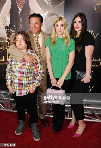 Andy Garcia with his son Andres GarciaLorido and daughers Daniella GarciaLorido and Dominik GarciaLorido attend the Los Angeles premiere of ARC...
