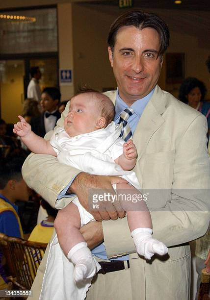 Andy Garcia with son Andres during LA's Best Annual Family Brunch at Sony Studios in Los Angeles California United States