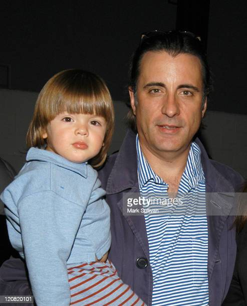 Andy Garcia with son Andres during Taste Chicago Grand Opening and Chicago Block Party at Taste Chicago in Burbank California United States