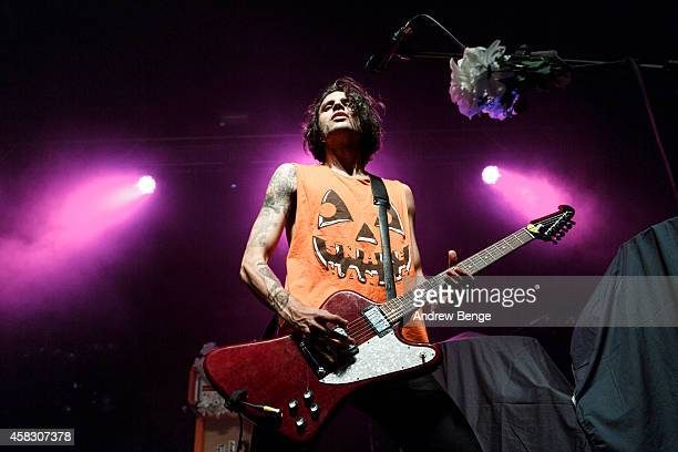 Andy Ghosh of Turbowolf performs on stage at The Ritz Manchester on November 2 2014 in Manchester United Kingdom