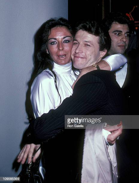 Andy Gibb and Barry Gibb's wife Linda during The Amazing Technicolor Dreamcoat Opening Party New York City at Century Cafe in New York City New York...