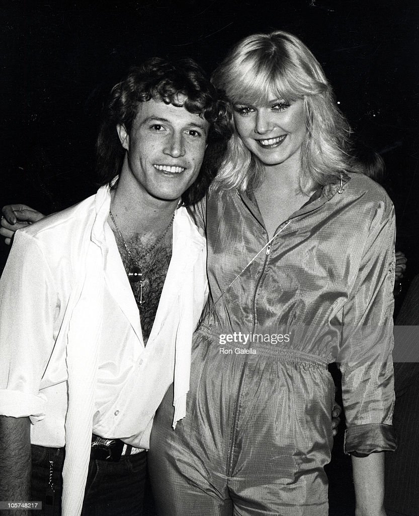Andy Gibb And British Model Jeanie Anderson During Birthday Party For Andy Gibb At Le Dome