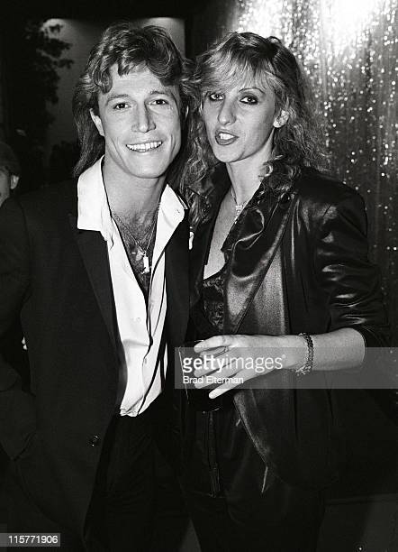 Andy Gibb and Fleur Thiemeyer at a music awards show in Los Angeles California **EXCLUSIVE**