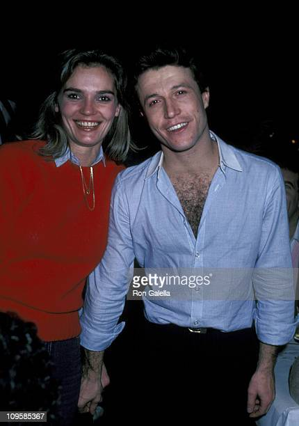 Andy Gibb and Laura during 'The Amazing Technicolor Dreamcoat' Opening Party New York City at Century Cafe in New York City New York United States