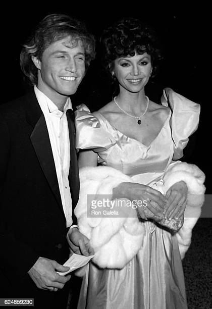 Andy Gibb and Victoria Principal attend Night of 100 Stars Benefit Gala on February 14 1982 at the New York Hilton Hotel in New York City