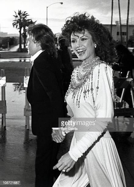 Andy Gibb and Victoria Principal during 8th Annual People's Choice Awards at Santa Monica Civic Auditorium in Santa Monica California United States