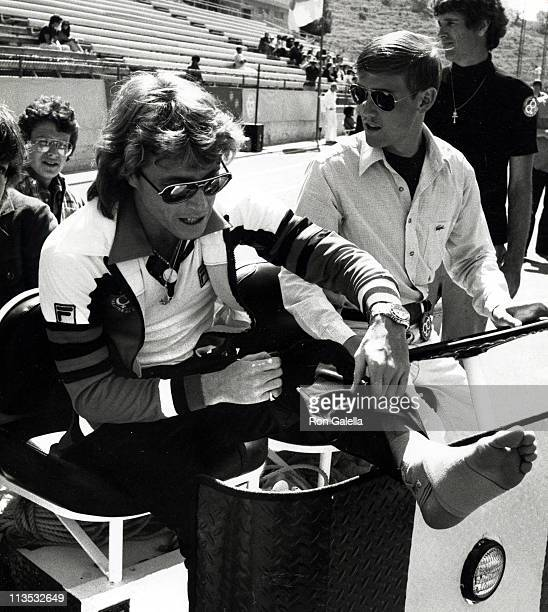 Andy Gibb during 'Celebrity Challenge of the Sexes' at Mt Sac Stadium Pamona in Los Angeles California United States