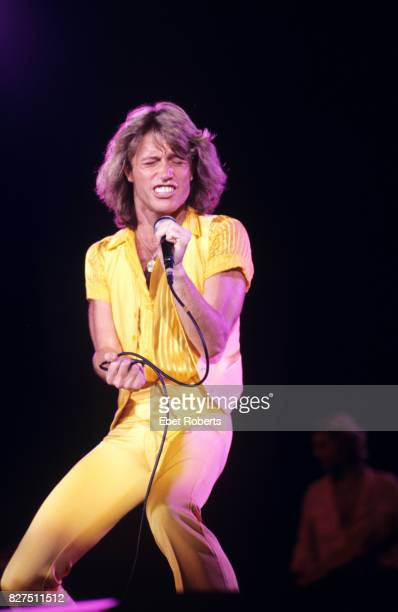Andy Gibb performing at the Nassau Coliseum in Uniondale Long Island New York 1st July 1978
