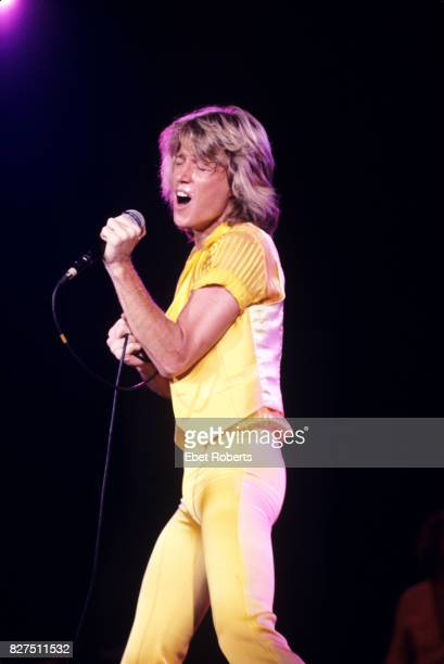 Andy Gibb performing at the Nassau Coliseum in Uniondale, Long Island, New York, 1st July 1978.