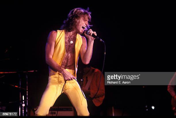 Andy Gibb performs on stage at the Felt Forum in 1979 in New York.