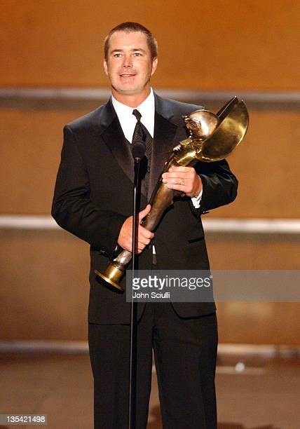 Andy Gill accepts the Award for Best Stunt Coordinator on behalf of his team for Bad Boys II
