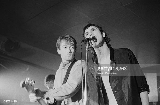 Andy Gill and Jon King performing with English postpunk group Gang of Four at the Russell Club aka The Factory Manchester 9th February 1979