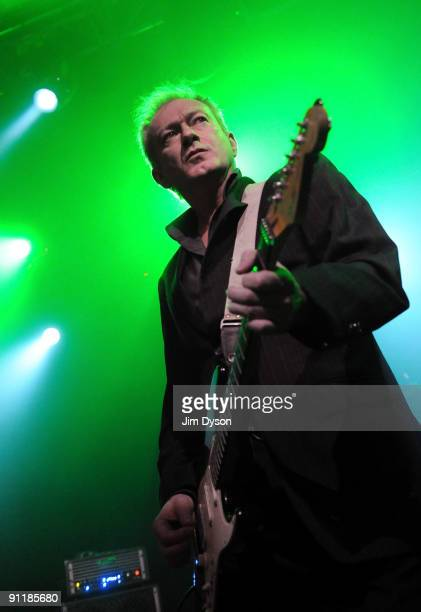 Andy Gill of British newwave group Gang Of Four performs at the Kentish Town Forum to celebrate the 30th anniversary of their debut album...