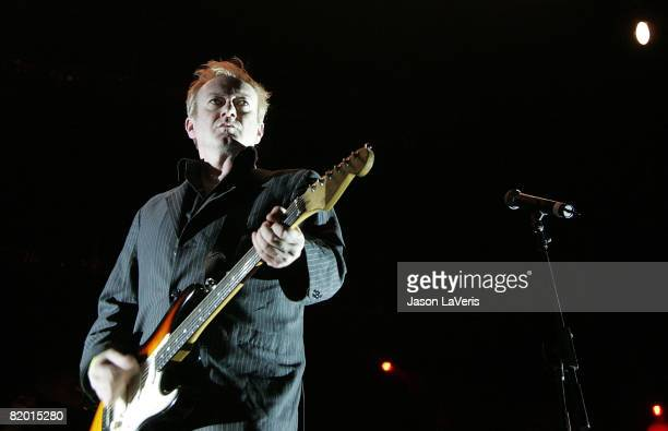 Andy Gill of Gang of Four performs at the 2008 Download Music Festival at the Gibson Amphitheater on July 20 2008 in Los Angeles California