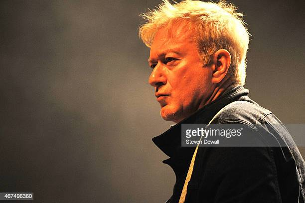 Andy Gill of Gang of Four performs on stage at The El Rey on March 24 2015 in Los Angeles United States