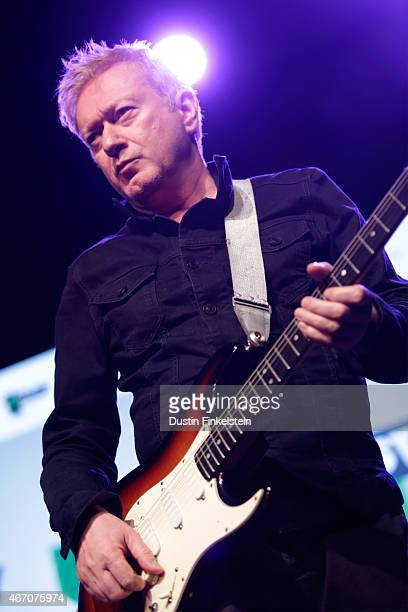 Andy Gill of Gang of Four performs onstage at the Radio Day Stage showcase during the 2015 SXSW Music Film Interactive Festivale at Austin Convention...