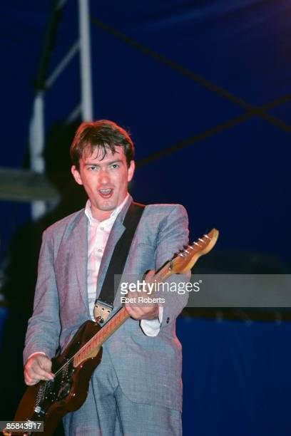 Andy Gill performing with Gang of Four at The Pier in New York City on July 14 1982