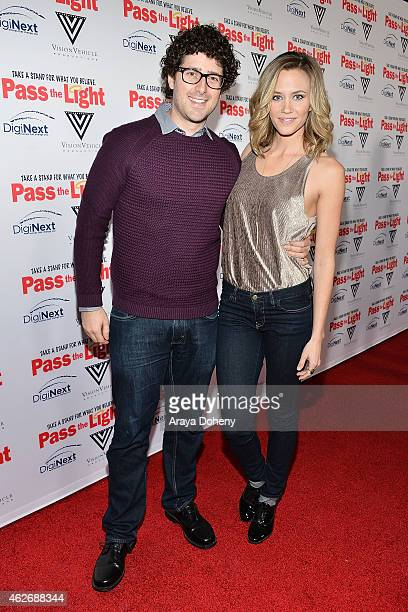 Andy Goldenberg and Aqueela Zoll attend the Pass The Light film premiere presented by Vision Vehicle Productions and DigiNext at ArcLight Hollywood...